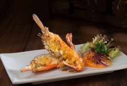 Baked King Prawns in Curry Cream Cheese Sauce